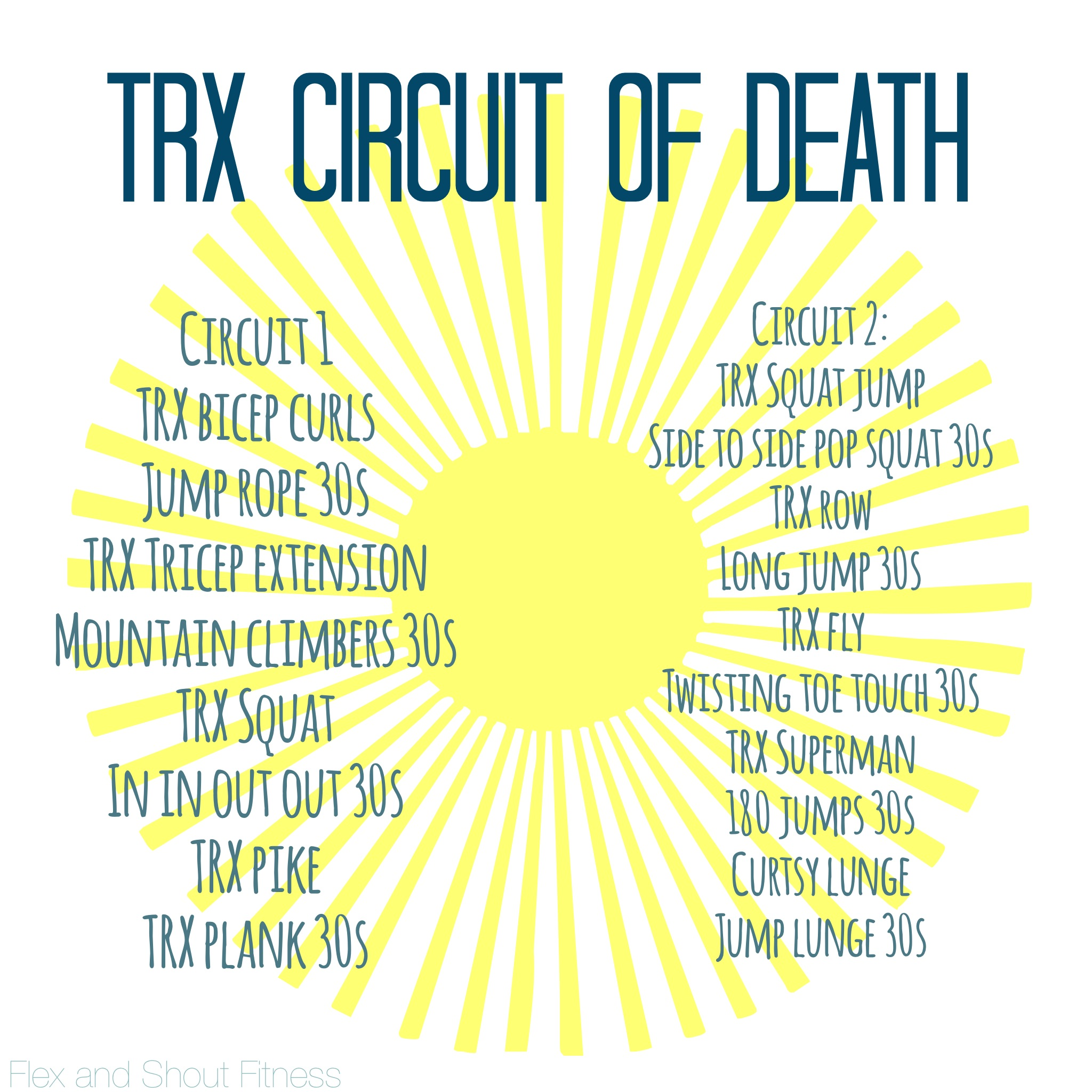 TRX | Flex and Shout Fitness