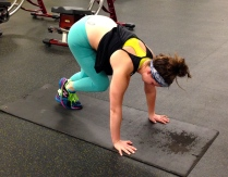 Single Leg Mountain Climbers: keep 1 leg bent and hop back and forth on supporting leg