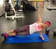 side plank with hip pulse