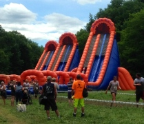Slide before the finish line!