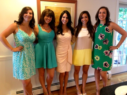The bridesmaids minus 1! Missed you, Reb!